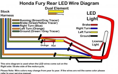 honda fury wiring diagram honda wiring diagrams 10″ led for the honda fury rear fender low and mean
