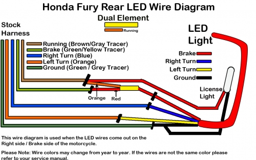 rear shorty fender for honda fury low and mean rh lowandmean com Honda Motorcycle Wiring Color Codes 2011 honda fury wiring diagram