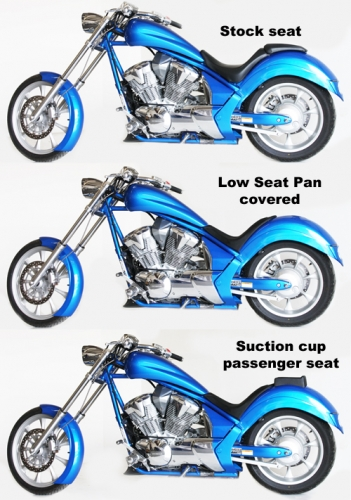 Low Rider Seat Pan for Honda Fury - Low and Mean