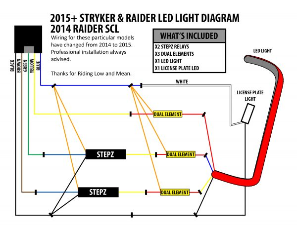 stryker led brake light and license plate kit low and mean rh lowandmean com Motorcycle Ignition Wiring Diagram Yamaha Stratoliner Wiring-Diagram